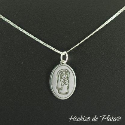 medalla plata virgencita