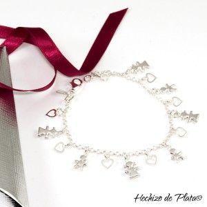 Pulsera de plata con colgantes de Hechizo de Plata Joyería