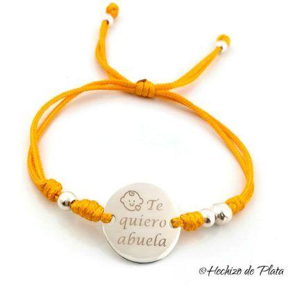 pulsera personalizada para abuela de Hechizo de Plata joyería