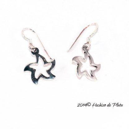 pendientes de plata estrella de Hechizo de Plata Joyería
