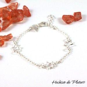 Pulsera de plata personalizada de Hechizo de Plata Joyería