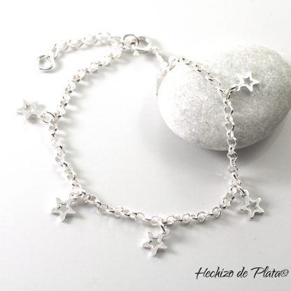 Pulsera de plata con estrellas de Hechizo de Plata Joyería