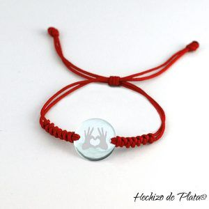 Pulsera personalizada de cordón de Hechizo de Plata Joyería