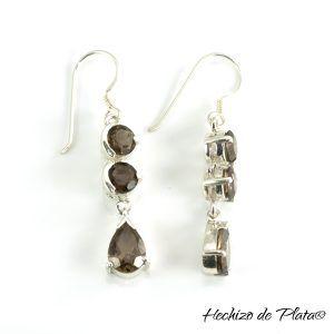 Pendientes de plata piedras de Hechizo de Plata Joyería