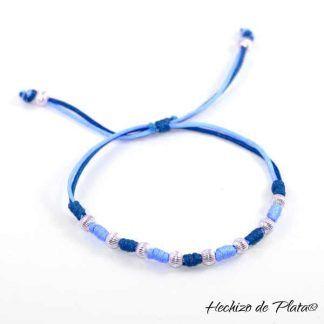 pulsera personalizada en cordón de Hechizo de Plata joyería