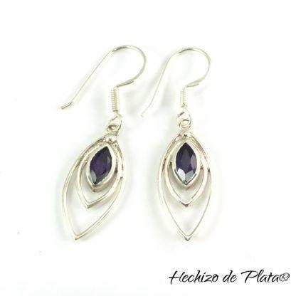 Pendientes de plata amatista de Hechizo de Plata joyería