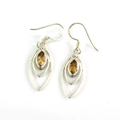 Pendientes de plata con citrino de Hechizo de Plata joyería