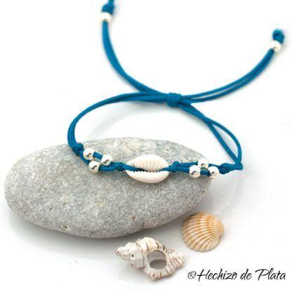 pulsera caracola de mar de Hechizo de Plata joyería