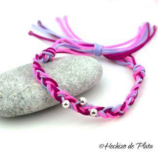 pulsera de cordon de Hechizo de Plata joyería