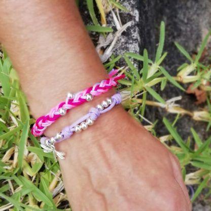 pulsera de cordon con colores de Hechizo de Plata joyería