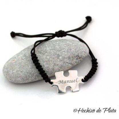pulsera hombre puzzle de Hechizo de Plata joyería