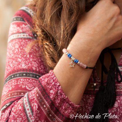Pulsera estrella azul plata de Hechizo de Plata