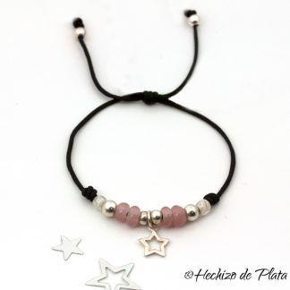 pulsera personalizada con estrella de Hechizo de Plata joyería