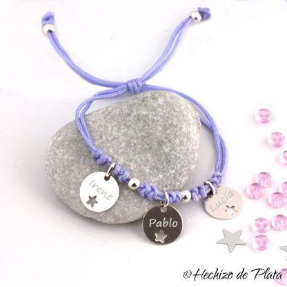 Pulsera personalizada para mamas de Hechizo de Plata joyería