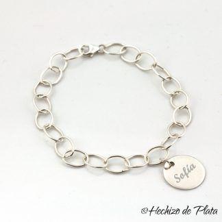 pulsera personalizada amigas para siempre de Hechizo de Plata Joyería