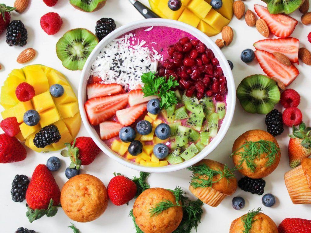 comida sana y de color