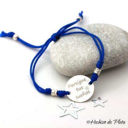 pulsera personalizada para amiga de Hechizo de Plata joyería