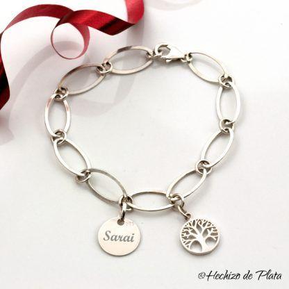 Pulsera de plata árbol de la vida de Hechizo de Plata Joyería