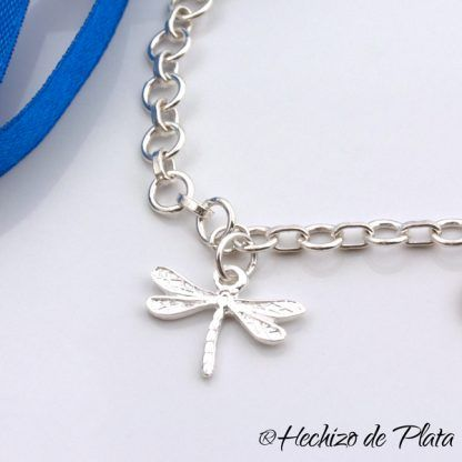 Pulsera personalizada corazón de Hechizo de Plata joyería
