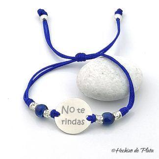 pulsera personalizada con mensaje de Hechizo de Plata joyería
