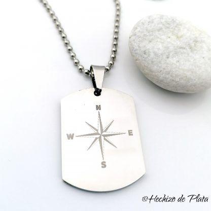colgante de acero chapa militae personalizada de Hechizo de Plata joyería