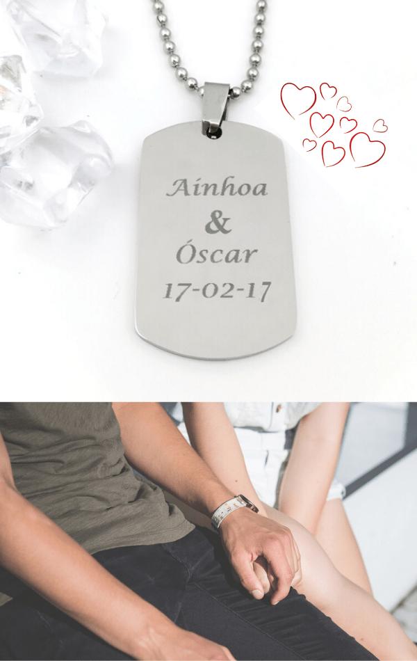 regalos en colgante de acero de Hechizo de Plata