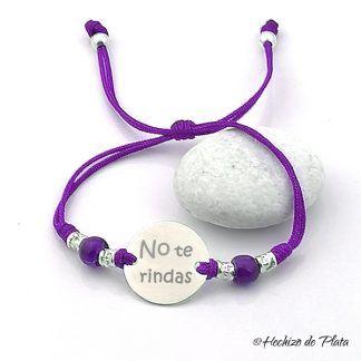 pulsera personalizada de plata con mensaje para amiga de Hechizo de Plata joyeria