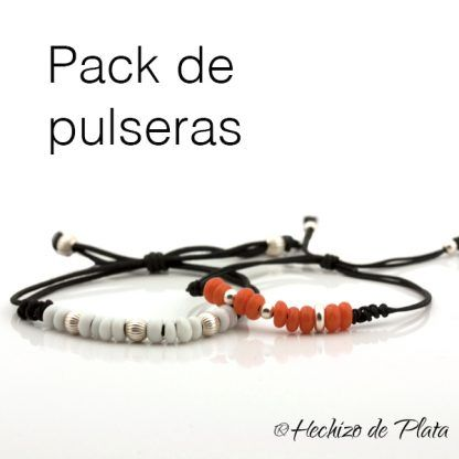 pack de pulseras personalizadas de Hechizo de Plata joyería