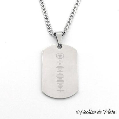 colgante de acero chapa militar personalizada de Hechizo de Plata joyería