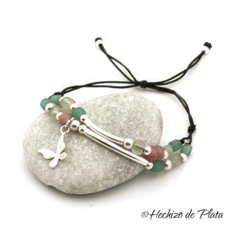 pulsera personalizada con cristales de Hechizo de Plata joyería