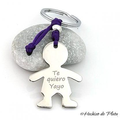Llavero personalizado acero para papa de Hechizo de Plata Joyería
