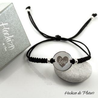 pulsera personalizada para regalo de cumpleaños de Hechizo de Plata joyería